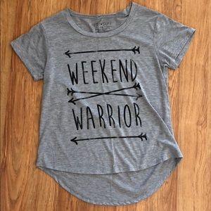 Grey Weekend Warrior TShirt